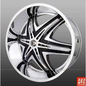 30 Diablo Elite Chrome Rims & Tire pkg 255/30/30 Tires