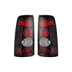 03 06 Chevy Silverado Black Tail Lights + LED Parking