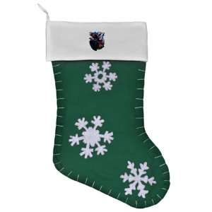 Felt Christmas Stocking Green Bear Bald Eagle and Wolf