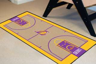 Los Angeles Lakers Basketball Court Runner Area Rug Mat