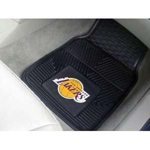 Los Angeles Lakers Black 2 Piece Vinyl Car Mat Set