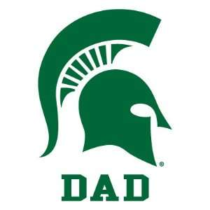 MICHIGAN STATE UNIVERSITY SPARTAN DAD clear vinyl decal