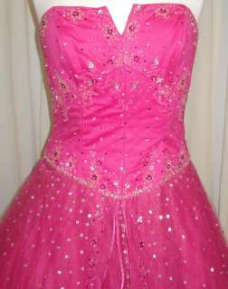 BALL GOWN PROM DRESSES FUCHSIA SIZE 16