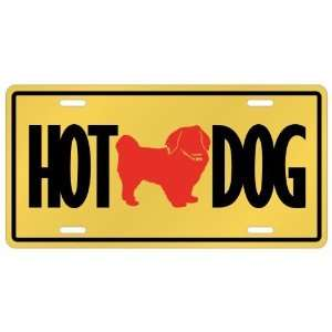 New  Tibetan Spaniel   Hot Dog  License Plate Dog