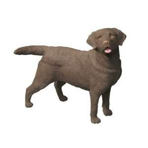 Original Size Labrador Retriever Dog Figurine   Chocol