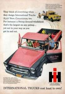 1958 International Harvester 100 Pickup Truck Original Color Ad