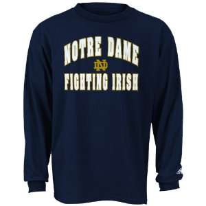 adidas Notre Dame Fighting Irish Navy Rally Long Sleeve T