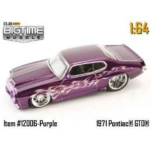 Jada Dub City Big Time Muscle Purple 1971 Pontiac GTO 164