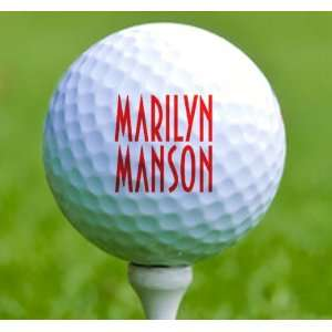 3 x Rock n Roll Golf Balls Marilyn Manson Musical Instruments