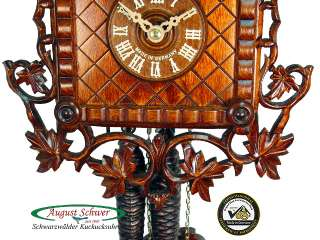Black Forest Cuckoo Clock 1 Day 1885 Train Station NEW