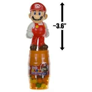 Fire Mario Mini Figure Barrel Candy Container  Grocery