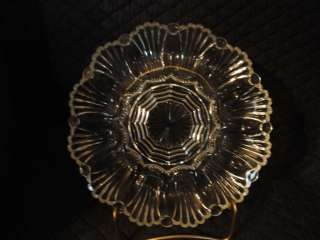 Anchor Hocking, fire king clear glass deviled 12 egg plate,