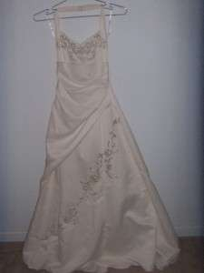 Womens FORMAL PROM DRESS Wedding Ivory Gown Long 3/4