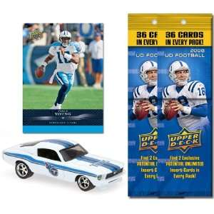 Upper Deck NFL 1967 Ford Mustang Fastback with Trading Card & Two 2008