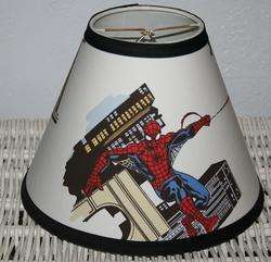 Shade mw Pottery Barn Kids Spiderman Super Heros Comic Boys Room Decor