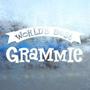 Worlds Best Grammie White Decal Car Window Laptop White
