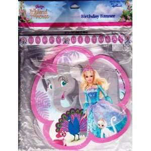 Barbie Island Princess Happy Birthday Banner Toys & Games