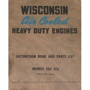 cooled heavy duty engines Instructions and parts list Model VF4 Books
