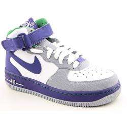 Boys Purple Air Force 1 Basketball Shoes (Size 3.5)
