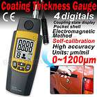 Ultrasonic Digital Coating Thickness Meter Gauge Tester 0~1200µm with