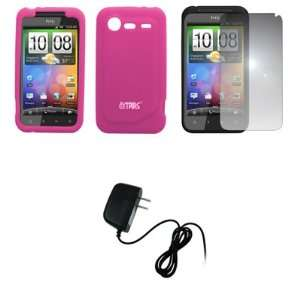 EMPIRE Hot Pink Silicone Skin Case Cover + Mirror Screen