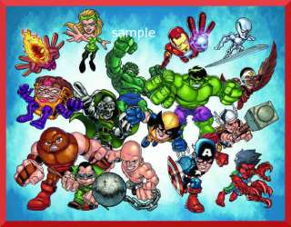Super Hero Squad edible cake image topper  1/4 sheet