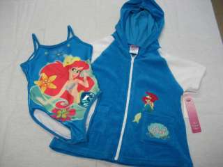 DISNEY PRINCESS ARIEL BLUE 1 PC SWIM SUIT/C UP GIRL 3T