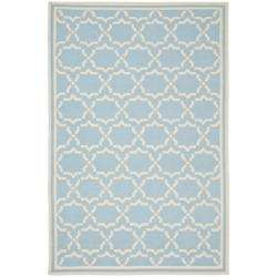 Moroccan Light Blue/ Ivory Dhurrie Wool Rug (3 x 5)