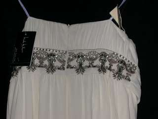 MILLER Strapless Embellished Georgette Wedding Gown 10 NWT