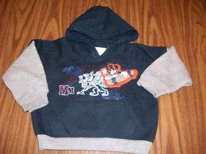 baby boys MICKEY MOUSE hoodie SWEATSHIRT top 18 mo NAVY