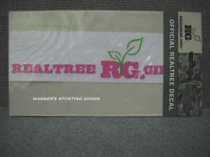 REALTREE GIRL OFFICIAL PINK VINYL DECAL
