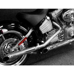 Out Slip On Mufflers for 2007 2010 Harley Davidson FL/FX Motorcycles
