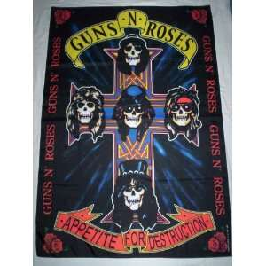 GUNS N ROSES 5x3 Feet Cloth Textile Fabric Poster