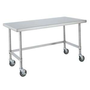 30 x 96 HD Super Open Base Stainless Steel Mobile Work Table Office