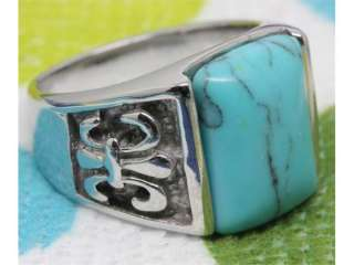 stone 316L Stainless steel rings Wholesale Lots Fashion Jewelry