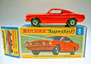 Superfast No.08A Ford Mustang orange red body red interior m/b