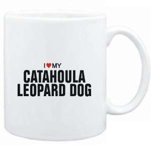 Mug White  I love my Catahoula Leopard Dog  Dogs
