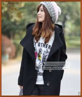New Womens Fashion Laple Slim Style Hoodie Single Breasted Coat Jacket