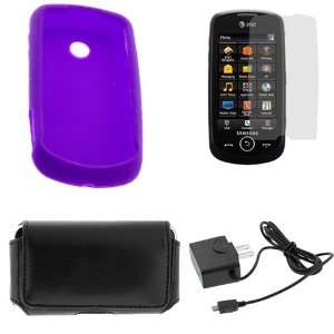 Case+LCD Screen Protector+Black Travel Charger +Black Universal