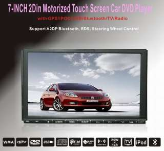 7inch 2din Indash car dvd player GPS navigation,Ipod,TV