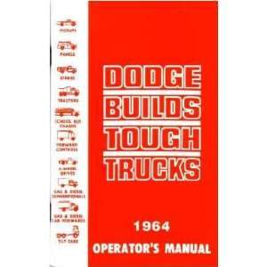 1964 DODGE TRUCK Full Line Owners Manual User Guide Automotive