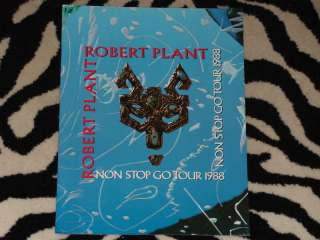 ROBERT PLANT Tour Book 1988 Blue Program #2 NON STOP GO