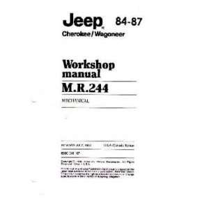 1984 1986 1987 JEEP CHEROKEE WAGONEER Service Manual