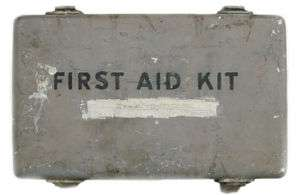 US WWII Vehicle First Aid Kit with Contents
