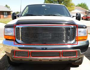 99 04 FORD F250 EXCURSION BILLET GRILLE COMBO GRILL SD