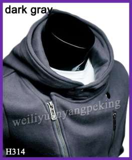 New Fashion Mens Slim Fit Sexy Top Designed Hoody Coats Jackets 4 Size