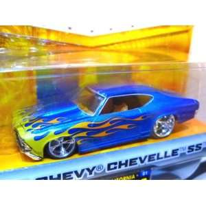Time Muscle Blue 1969 Chevy Chevelle SS 1164 Scale Die Cast Car Toys