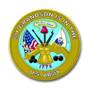 United States Army My Grandson is in the Army Seal Decal Sticker 5.5