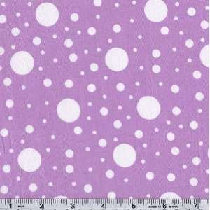 54 Wide Flamenco Polka Dots Lilac Fabric By The Yard