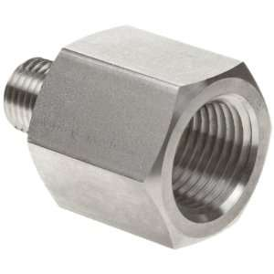 Parker Stainless Steel 316 Pipe Fitting, Reducing Adapter, 3/8 NPT